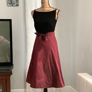 Talbots two-tone dress size 2